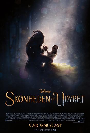 Plakat for filmen Skønheden og udyret - (dansk tale)