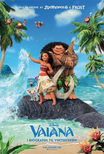 Plakat for filmen Vaiana - Med dansk tale